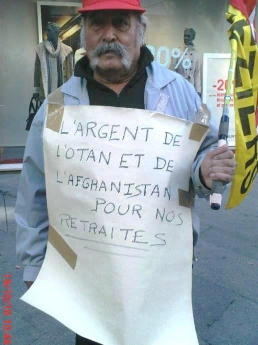 Au cours de la manifestation du 19 octobre à Béziers